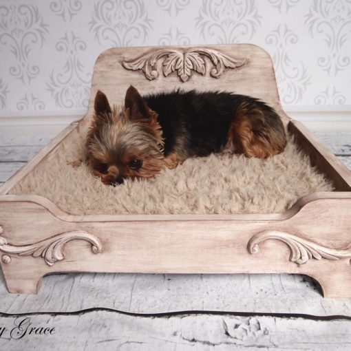 small wood dog bed