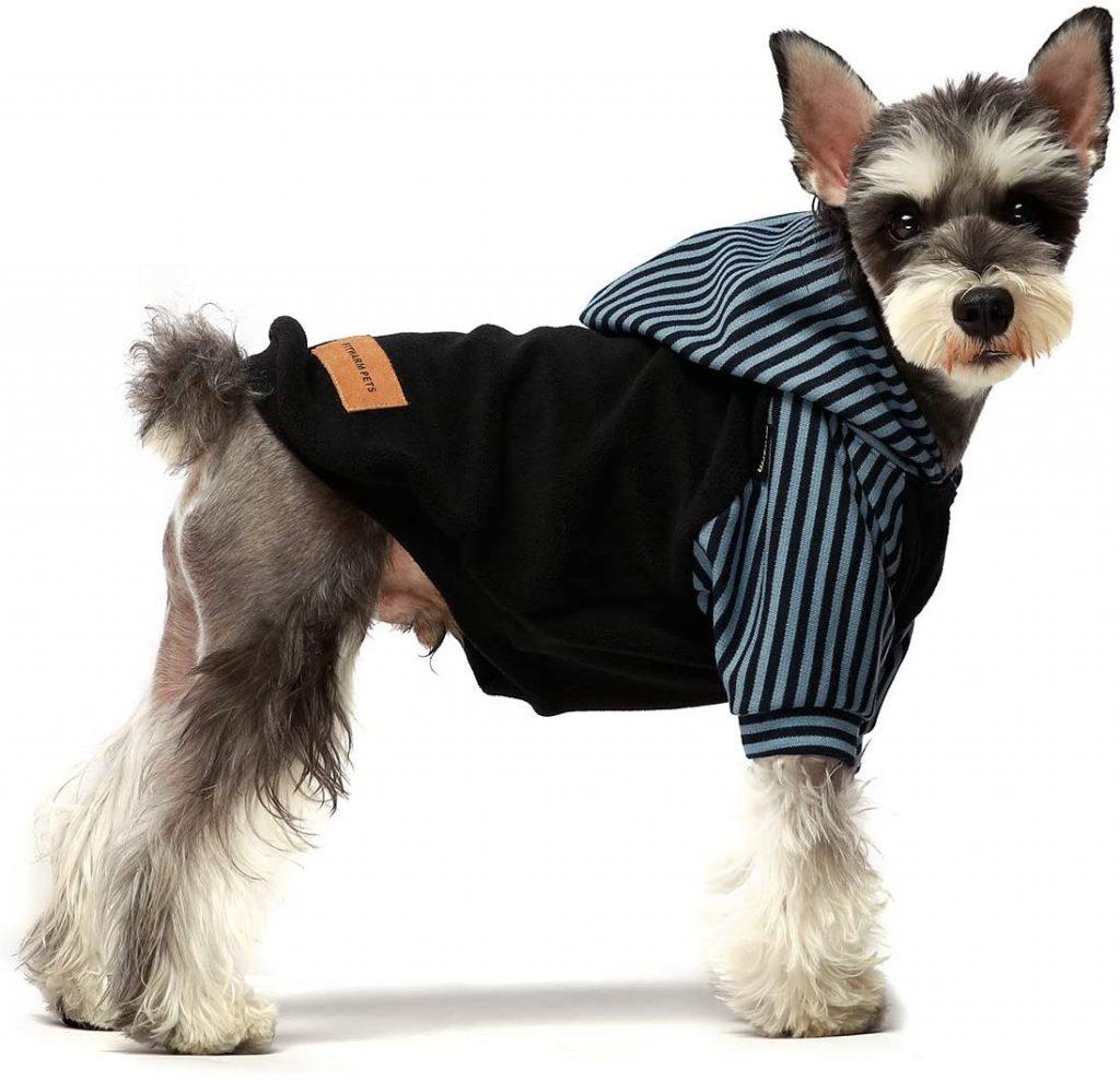 black striped dog hoodie