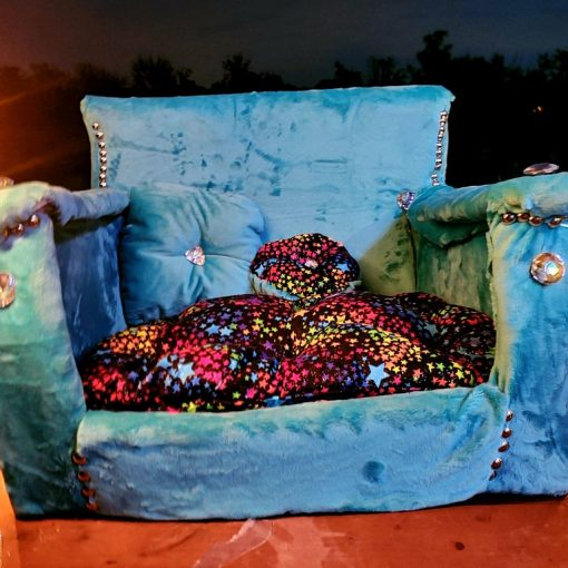 luxury blue dog couch