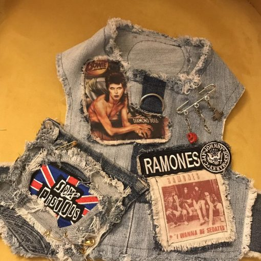 punk rock denim harness