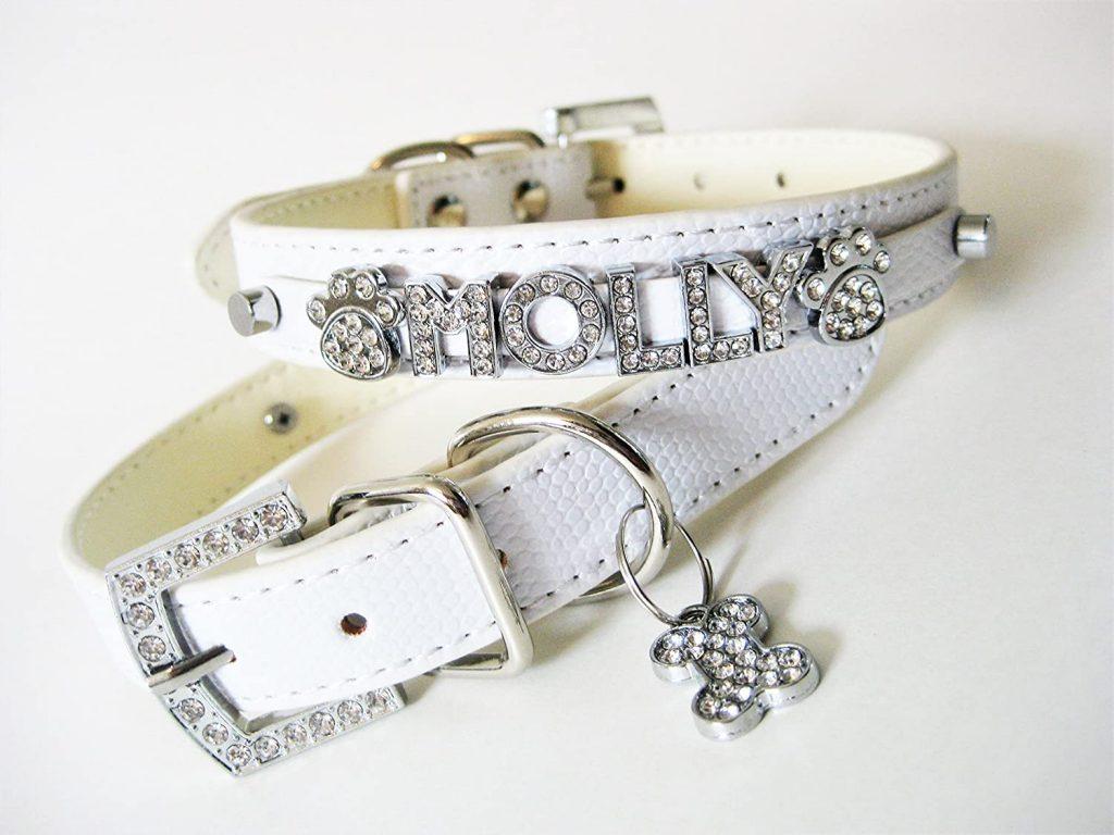 personalized rhinestone dog collar