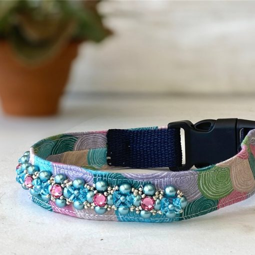 collar with swarovski gems
